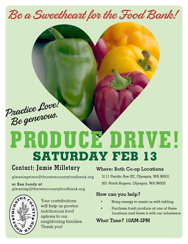 Donate produce to the food bank February 13th! | Olympia